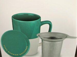 Tea mug with lid and infuser