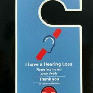 Door Hanger for Hearing Loss
