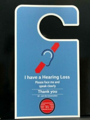 Door Hanger for Hearing Loss