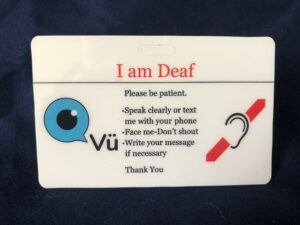 Deaf Communication Card